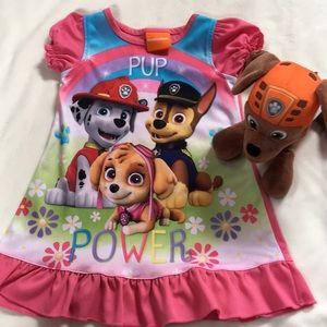 [ Nickelodeon Paw Patrol Pajama Nightgown] 2T